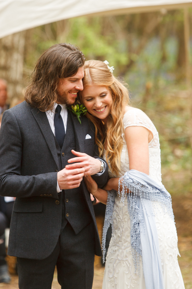 Natural, rustic wedding in bluebell woods at Fern and Field with Perceptive Photography (29)