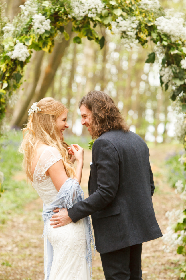 Natural, rustic wedding in bluebell woods at Fern and Field with Perceptive Photography (31)
