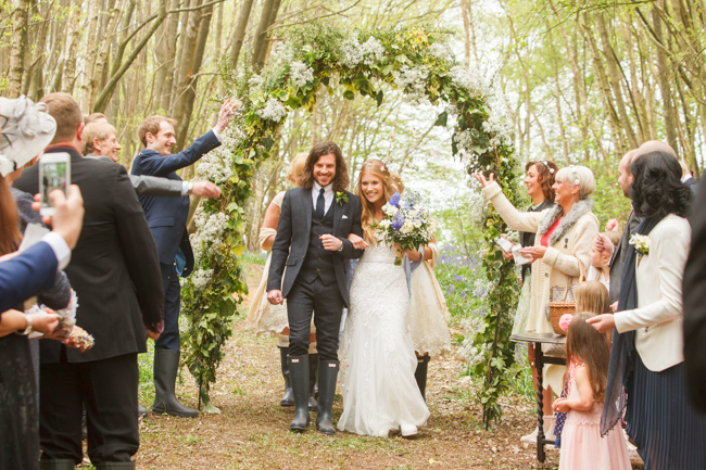 Natural, rustic wedding in bluebell woods at Fern and Field with Perceptive Photography (33)