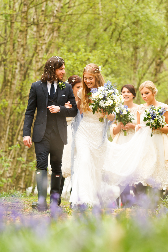 Natural, rustic wedding in bluebell woods at Fern and Field with Perceptive Photography (35)