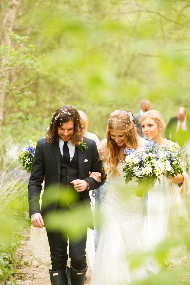 Natural, rustic wedding in bluebell woods at Fern and Field with Perceptive Photography (36)