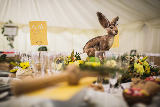 Bright and interesting Easter wedding tables with character on the English Wedding Blog (14)