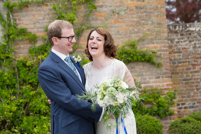 Jenny Packham and ivory roses for a pretty spring wedding at St Clere Estate, image credit Helen England Photography (10)