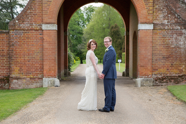Jenny Packham and ivory roses for a pretty spring wedding at St Clere Estate, image credit Helen England Photography (12)