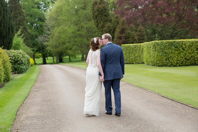 Jenny Packham and ivory roses for a pretty spring wedding at St Clere Estate, image credit Helen England Photography (14)