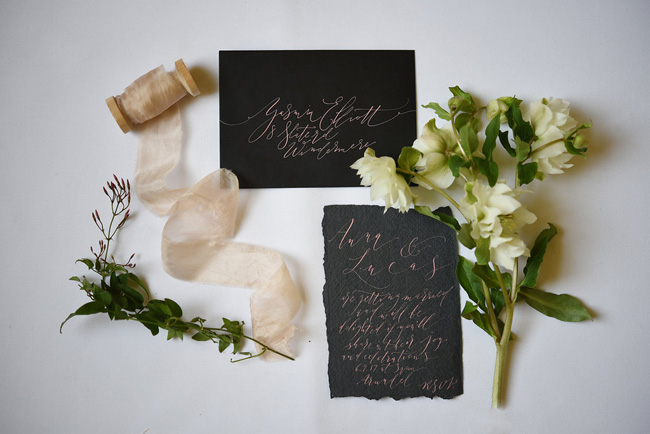 Beautiful modern calligraphy from By Moon and Tide, image credit Eva Tarnok Photography (3)
