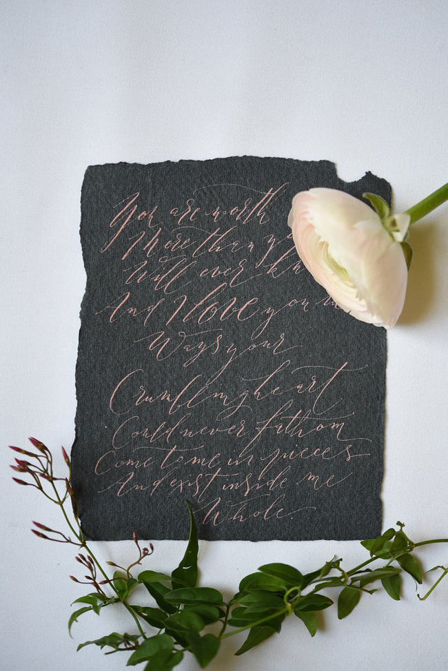 Beautiful modern calligraphy from By Moon and Tide, image credit Eva Tarnok Photography (2)