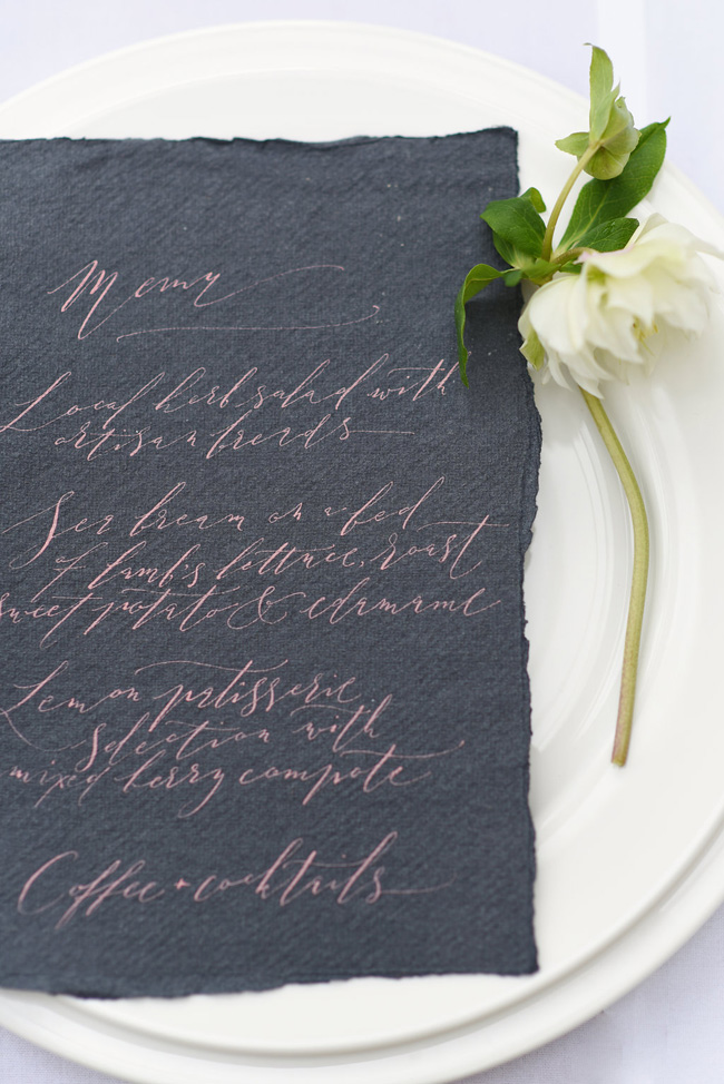 Beautiful modern calligraphy from By Moon and Tide, image credit Eva Tarnok Photography (1)