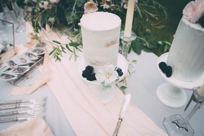 Soft, romantic blush and grey wedding table styling ideas by One Stylish Day (11)