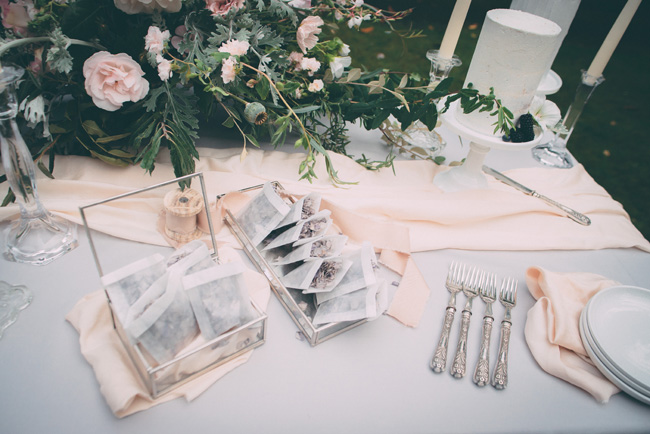Soft, romantic blush and grey wedding table styling ideas by One Stylish Day (13)