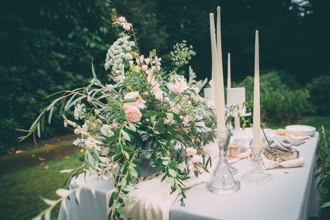 Soft, romantic blush and grey wedding table styling ideas by One Stylish Day (15)