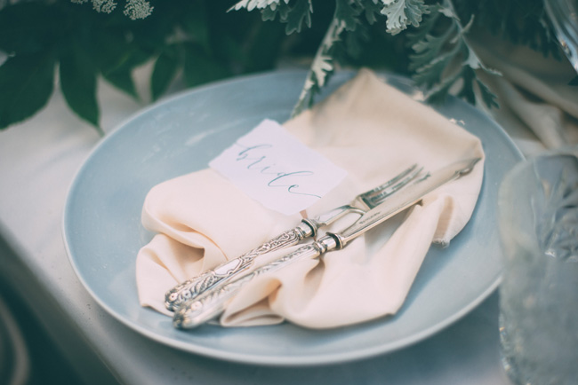 Soft, romantic blush and grey wedding table styling ideas by One Stylish Day (2)