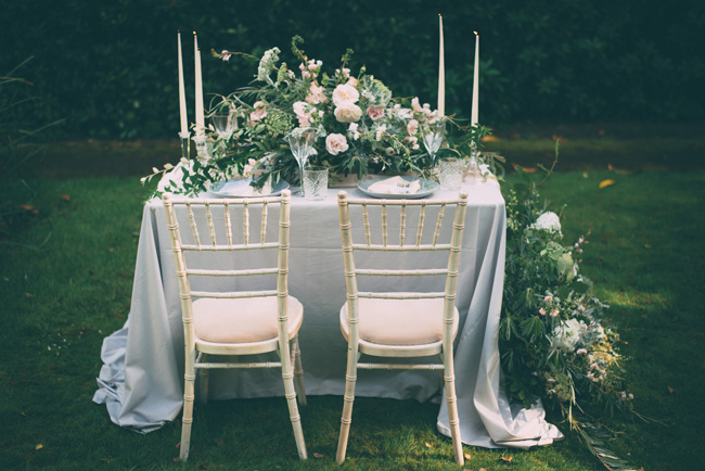 Soft, romantic blush and grey wedding table styling ideas by One Stylish Day (3)