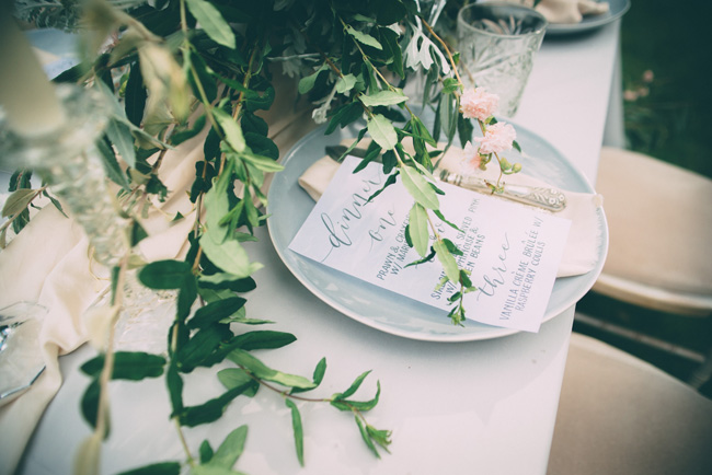 Soft, romantic blush and grey wedding table styling ideas by One Stylish Day (7)