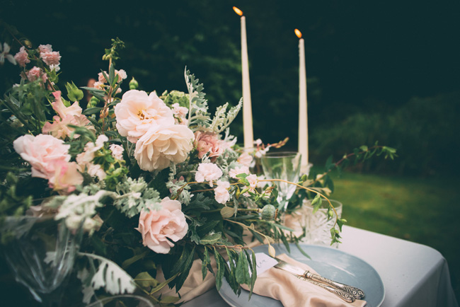 Soft, romantic blush and grey wedding table styling ideas by One Stylish Day (9)