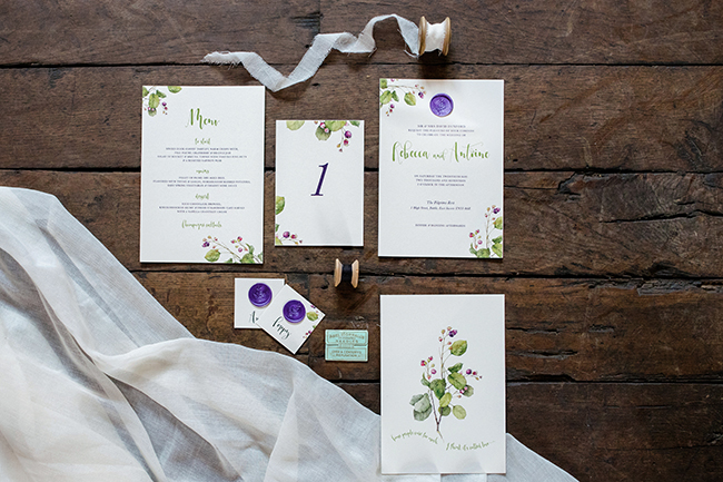 Gorgeous ferns, lush botanicals and glorious wedding stationery in a styled shoot by Sarah Williams Photography (1)