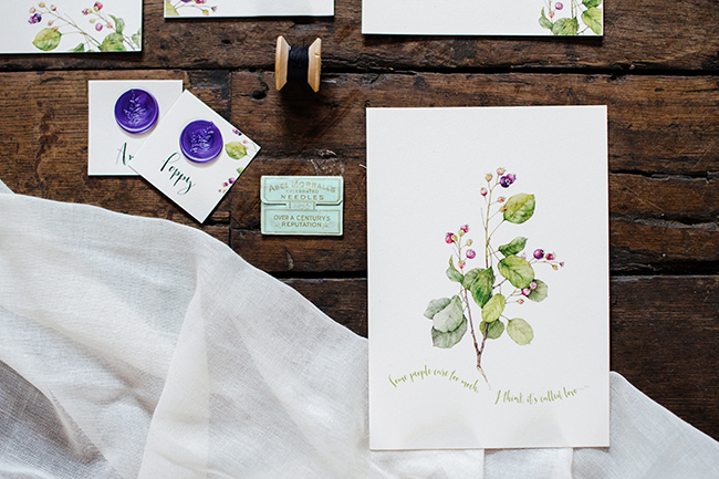 Gorgeous ferns, lush botanicals and glorious wedding stationery in a styled shoot by Sarah Williams Photography (2)