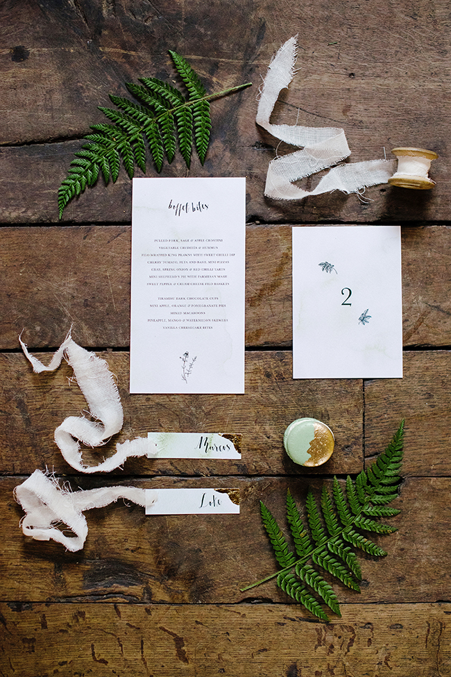 Gorgeous ferns, lush botanicals and glorious wedding stationery in a styled shoot by Sarah Williams Photography (13)