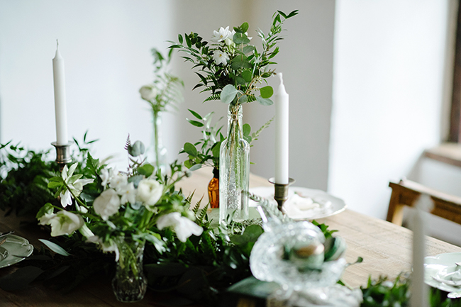 Gorgeous ferns, lush botanicals and glorious wedding stationery in a styled shoot by Sarah Williams Photography (16)