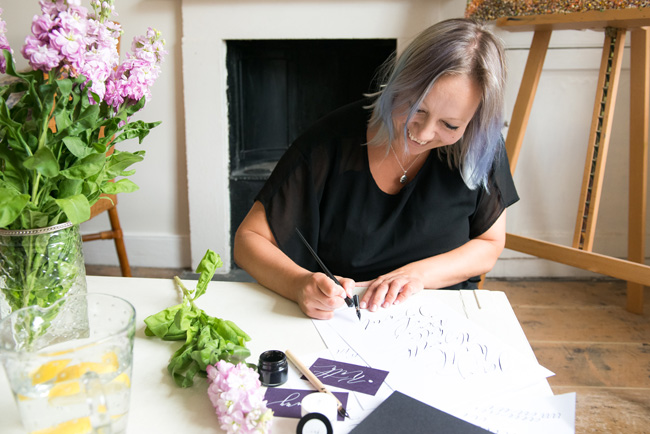Learn modern calligraphy in Manchester with Claire Gould 2017 (3)
