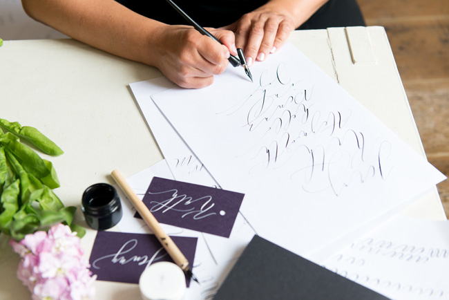Learn modern calligraphy in Manchester with Claire Gould 2017 (2)