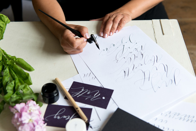 Learn modern calligraphy in Manchester with Claire Gould 2017 (1)
