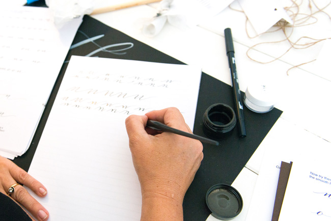 Learn modern calligraphy in Manchester with Claire Gould 2017 (9)