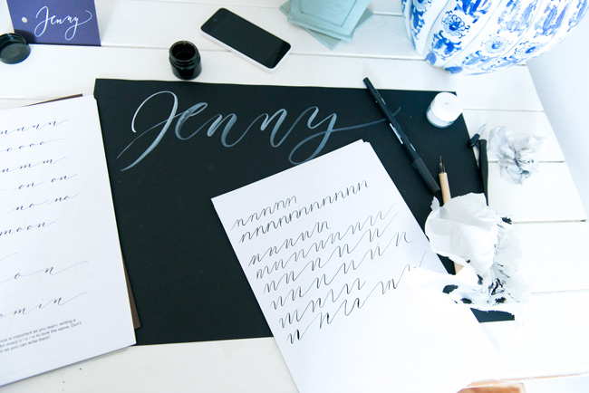 Learn modern calligraphy in Manchester with Claire Gould 2017 (8)