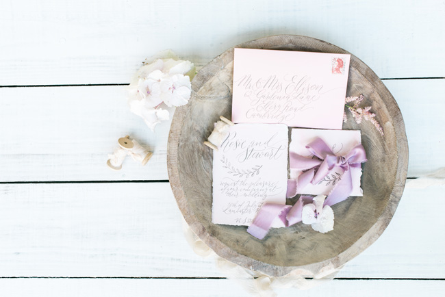 Deliciously personal, handcrafted calligraphy wedding invites. Photo Jenny Heyworth for Aspire Photography Training (2)