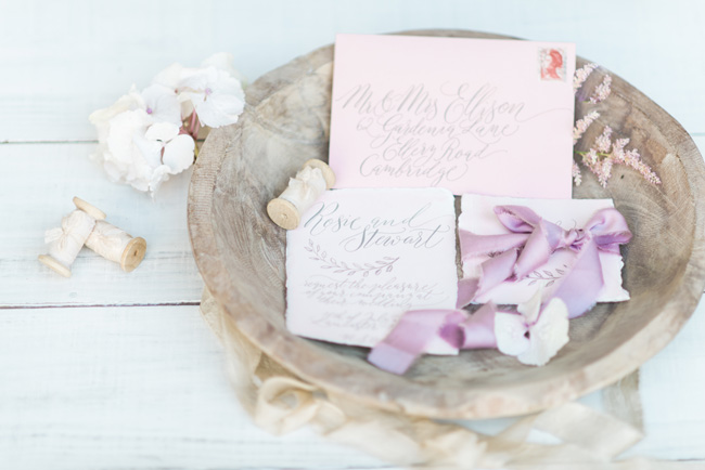 Deliciously personal, handcrafted calligraphy wedding invites. Photo Jenny Heyworth for Aspire Photography Training (1)