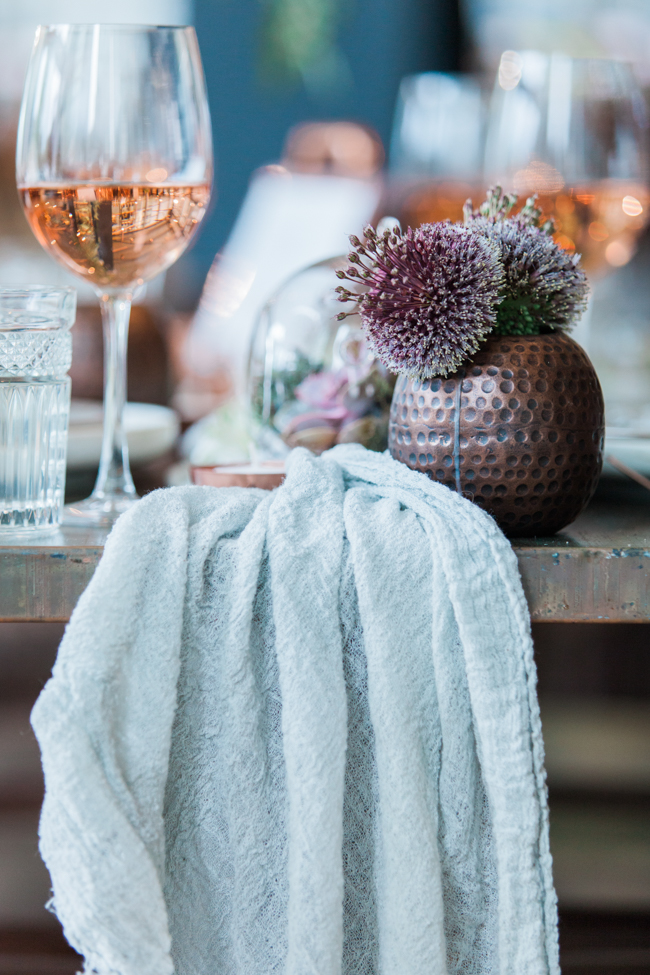 Copper and succulents for a Refinery wedding with Amanda Karen Photography Essex (10)