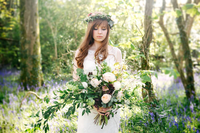 Love and bluebells - a dreamy springtime wedding shoot in Cornwall with Andrea Kuehnis Photography (2)