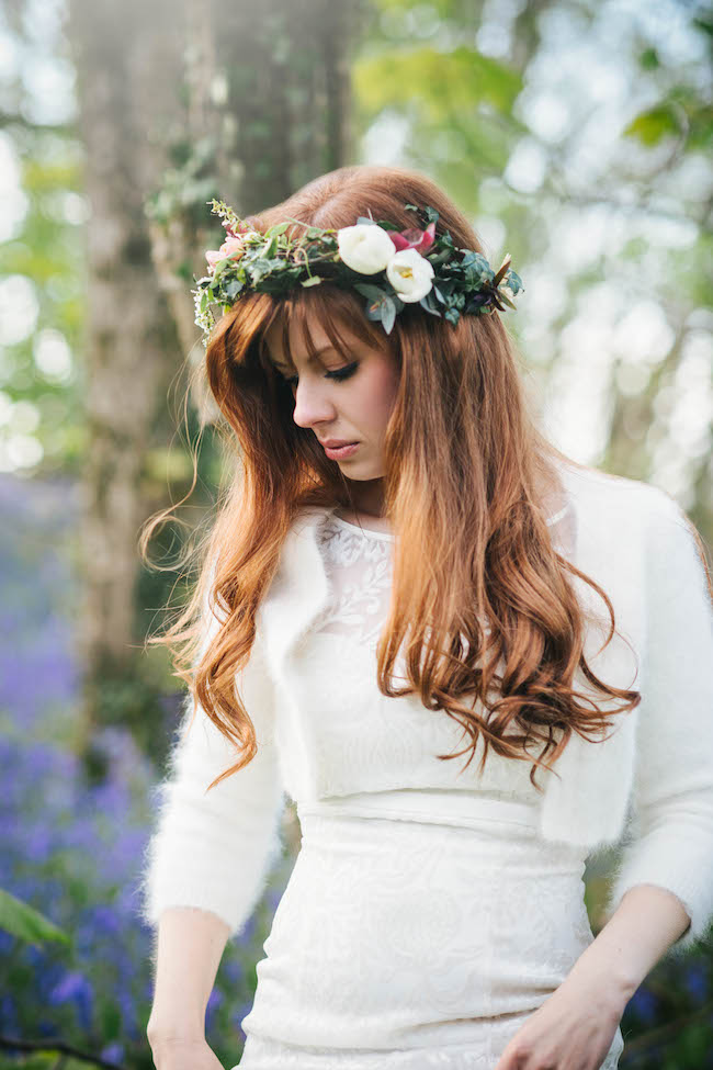 Love and bluebells - a dreamy springtime wedding shoot in Cornwall with Andrea Kuehnis Photography (19)