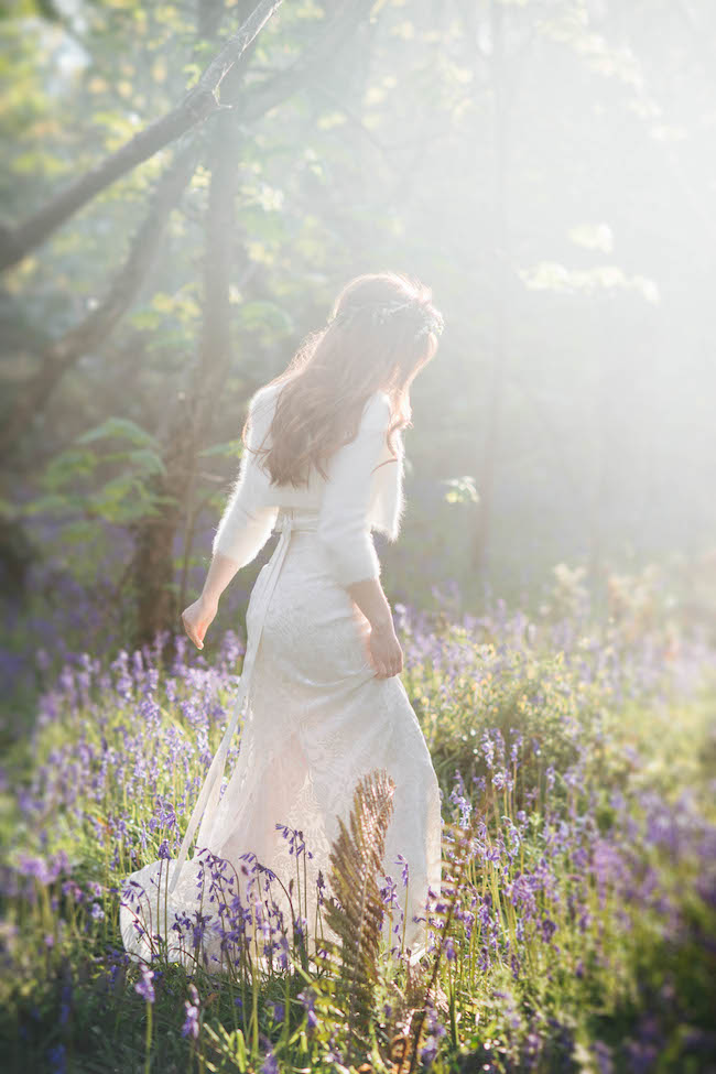 Love and bluebells - a dreamy springtime wedding shoot in Cornwall with Andrea Kuehnis Photography (21)