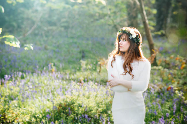 Love and bluebells - a dreamy springtime wedding shoot in Cornwall with Andrea Kuehnis Photography (22)