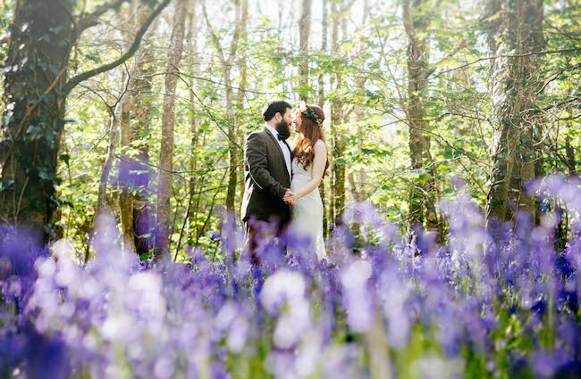 Love and bluebells - a dreamy springtime wedding shoot in Cornwall with Andrea Kuehnis Photography (1)