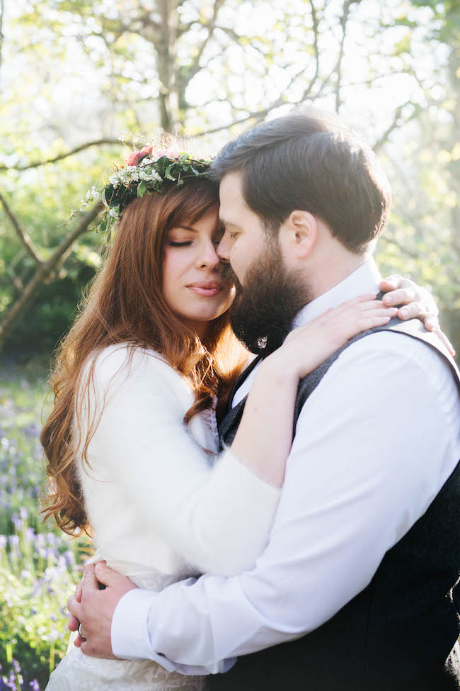 Love and bluebells - a dreamy springtime wedding shoot in Cornwall with Andrea Kuehnis Photography (14)