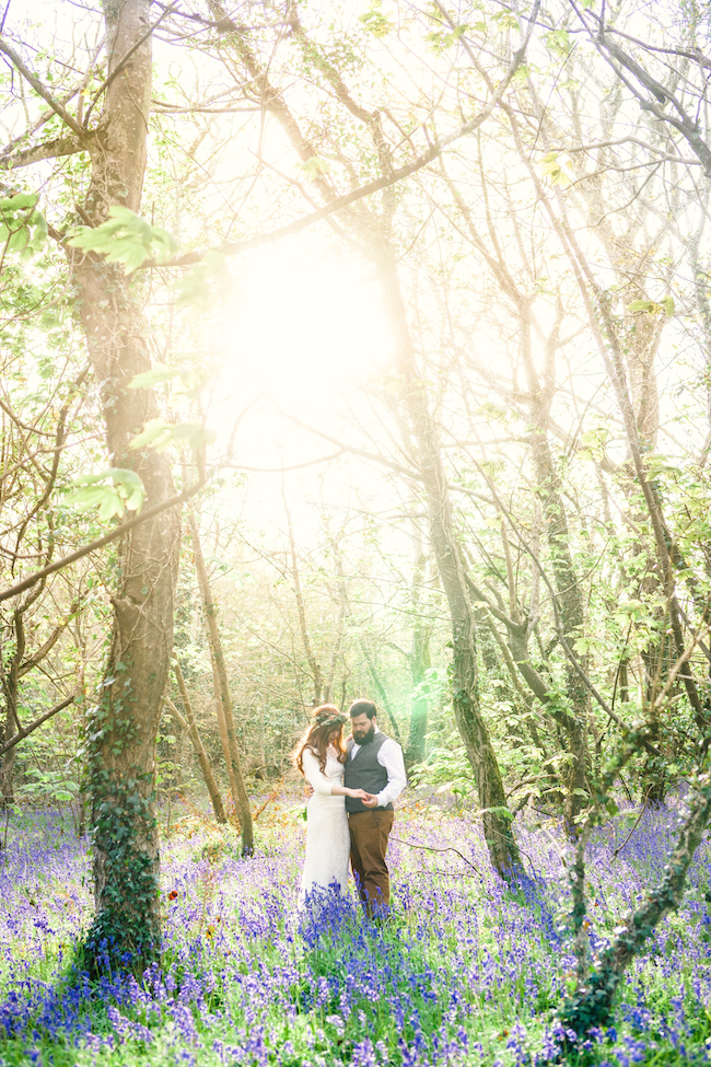 Love and bluebells - a dreamy springtime wedding shoot in Cornwall with Andrea Kuehnis Photography (33)