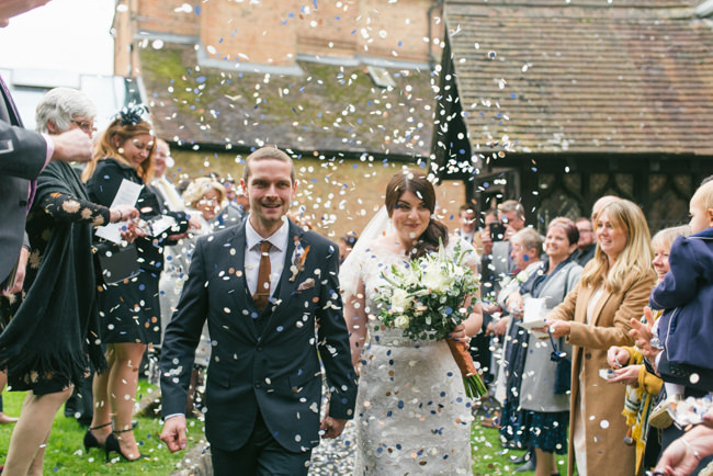 Navy and copper for a rustic restaurant wedding in Herefordshire with Che Birch-Hayes Photography (16)