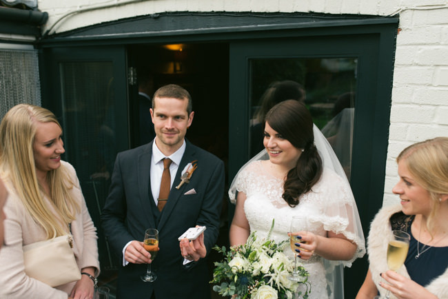 Navy and copper for a rustic restaurant wedding in Herefordshire with Che Birch-Hayes Photography (25)
