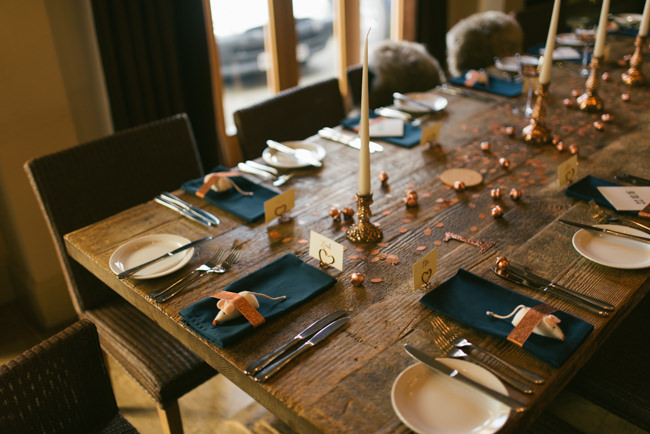 Navy and copper for a rustic restaurant wedding in Herefordshire with Che Birch-Hayes Photography (26)