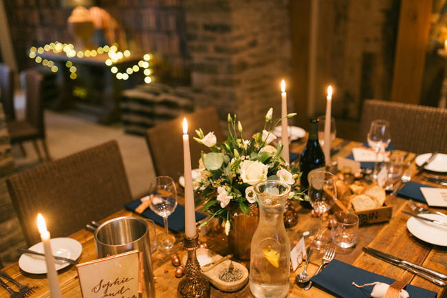 Navy and copper for a rustic restaurant wedding in Herefordshire with Che Birch-Hayes Photography (40)