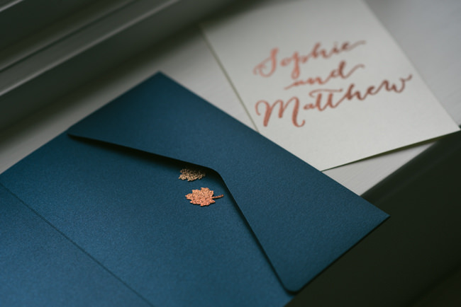 Navy and copper for a rustic restaurant wedding in Herefordshire with Che Birch-Hayes Photography (2)