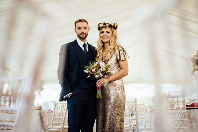 Humpston and Bull Photography at Hardwick Hall - beautiful marquee styling with florals and a touch of sparkle (26)