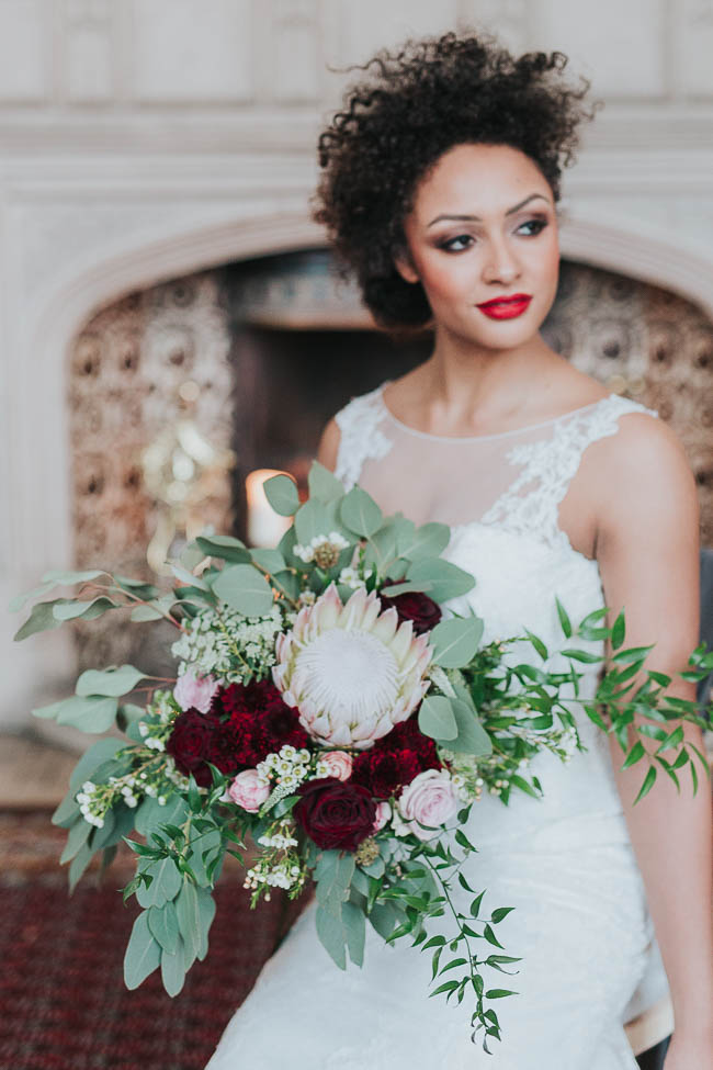 Gothic and glamorous wedding inspo from Carlton House in Yorkshire with Laura Calderwood Photography (23)