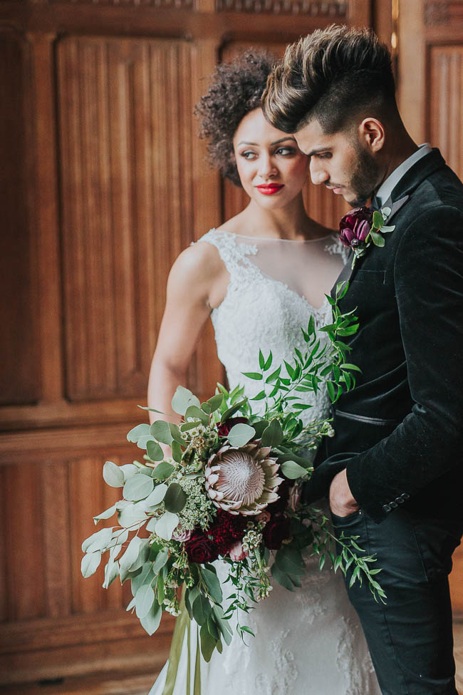 Gothic and glamorous wedding inspo from Carlton House in Yorkshire with Laura Calderwood Photography (25)
