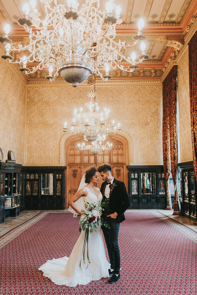 Gothic and glamorous wedding inspo from Carlton House in Yorkshire with Laura Calderwood Photography (26)