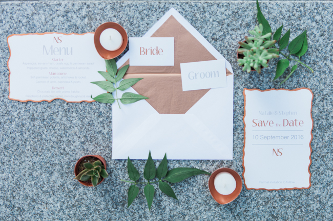 Copper and succulents for a Refinery wedding with Amanda Karen Photography Essex (41)