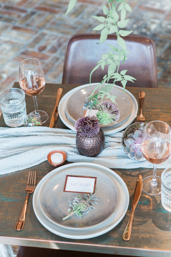Copper and succulents for a Refinery wedding with Amanda Karen Photography Essex (48)