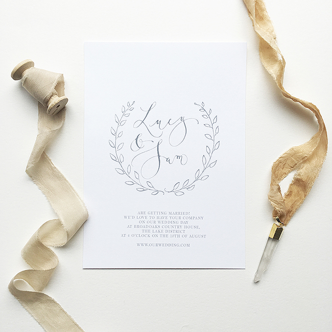 elegant calligraphy wedding invitations from the UK in the English Wedding Shop (7)